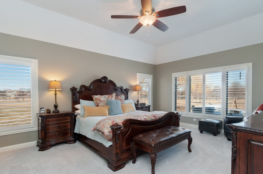 Real Estate Photography - 40w002 Lowell Place, St. Charles, IL, 60175 - Master Bedroom