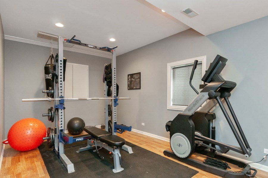 Real Estate Photography - 40w002 Lowell Place, St. Charles, IL, 60175 - Gym