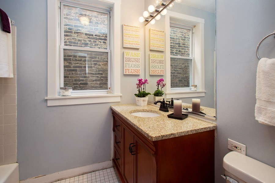 Real Estate Photography - 3634 N Hermitage, Chicago, IL, 60613 - 3rd Bathroom