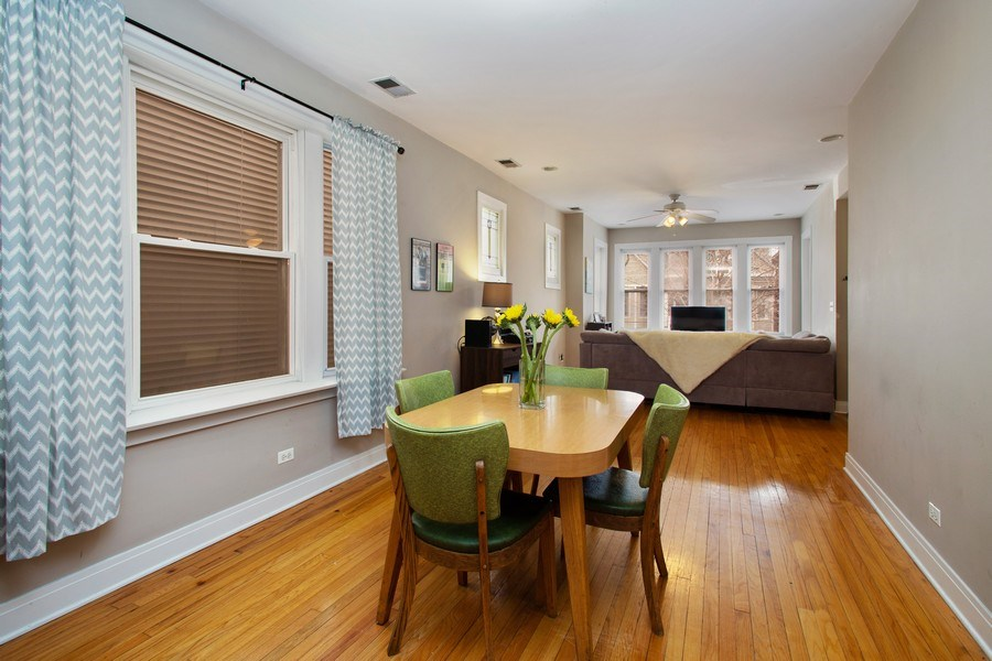 Real Estate Photography - 3634 N Hermitage, Chicago, IL, 60613 - Living Room/Dining Room