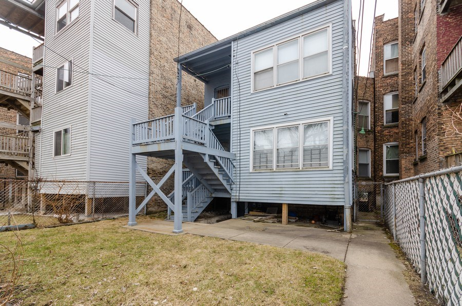 Real Estate Photography - 1522 E 68th Street, Chicago, IL, 60619 - Rear View