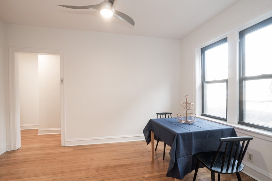 Real Estate Photography - 2842 n Francisco #1b, Chicago, IL, 60618 - Dining Room