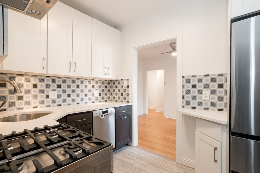 Real Estate Photography - 2842 n Francisco #1b, Chicago, IL, 60618 - Kitchen