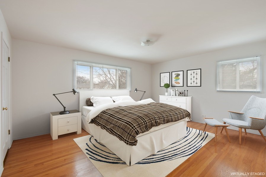 Real Estate Photography - 829 Hibbard Road, Wilmette, IL, 60091 - Spacious Master Bedroom, east & south views