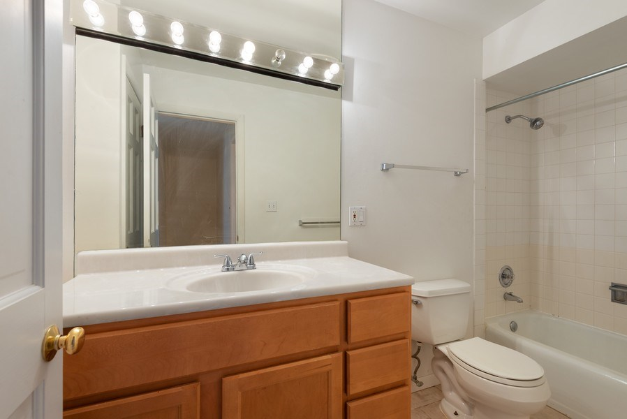 Real Estate Photography - 829 Hibbard Road, Wilmette, IL, 60091 - Hall Bath at top of stairs