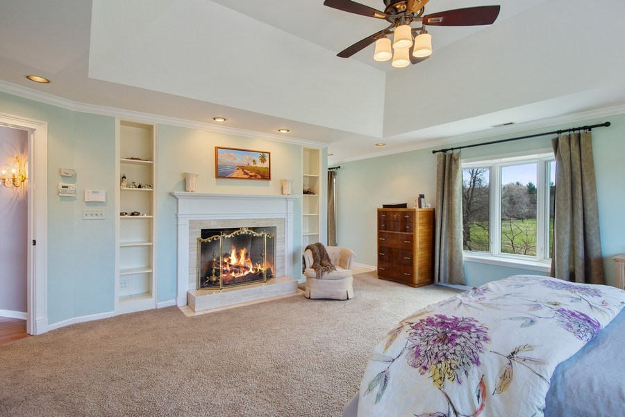 Real Estate Photography - 1 Bow Lane, Barrington Hills, IL, 60010 - Master Bedroom