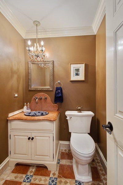 Real Estate Photography - 1 Bow Lane, Barrington Hills, IL, 60010 - Powder Room