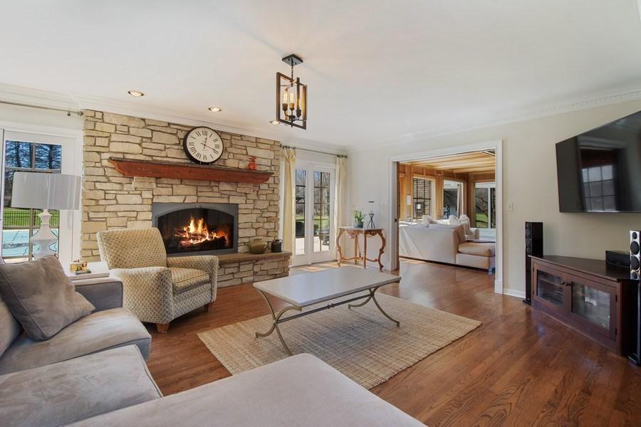 Real Estate Photography - 1 Bow Lane, Barrington Hills, IL, 60010 - Family Room