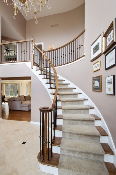 Real Estate Photography - 1 Bow Lane, Barrington Hills, IL, 60010 - Staircase