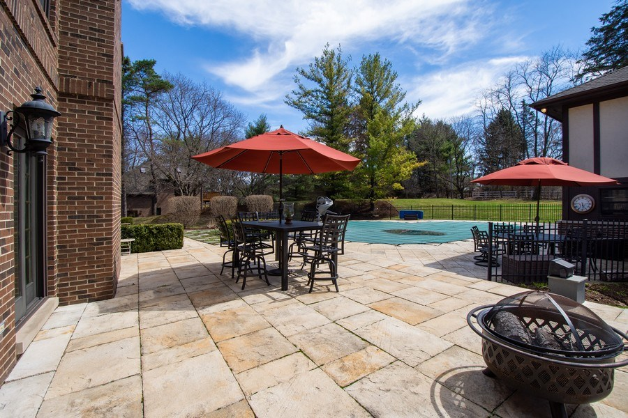 Real Estate Photography - 1 Bow Lane, Barrington Hills, IL, 60010 - Patio