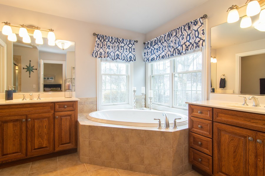 Real Estate Photography - 24815 Wildberry Bend, Cary, IL, 60013 - Master Bathroom