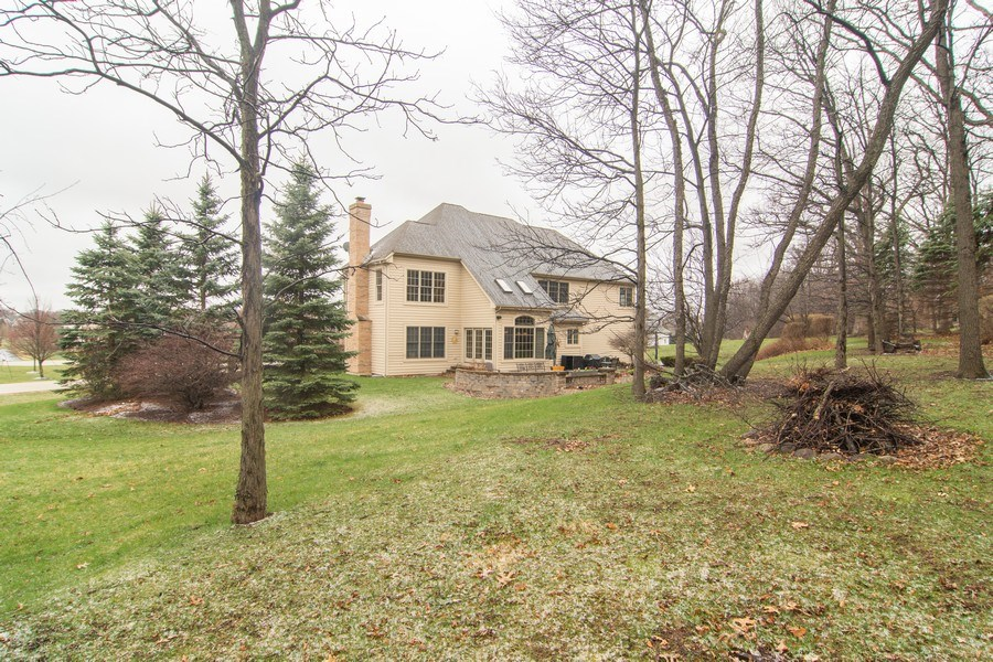 Real Estate Photography - 24815 Wildberry Bend, Cary, IL, 60013 - Over 1 Acre Lot - Rear View