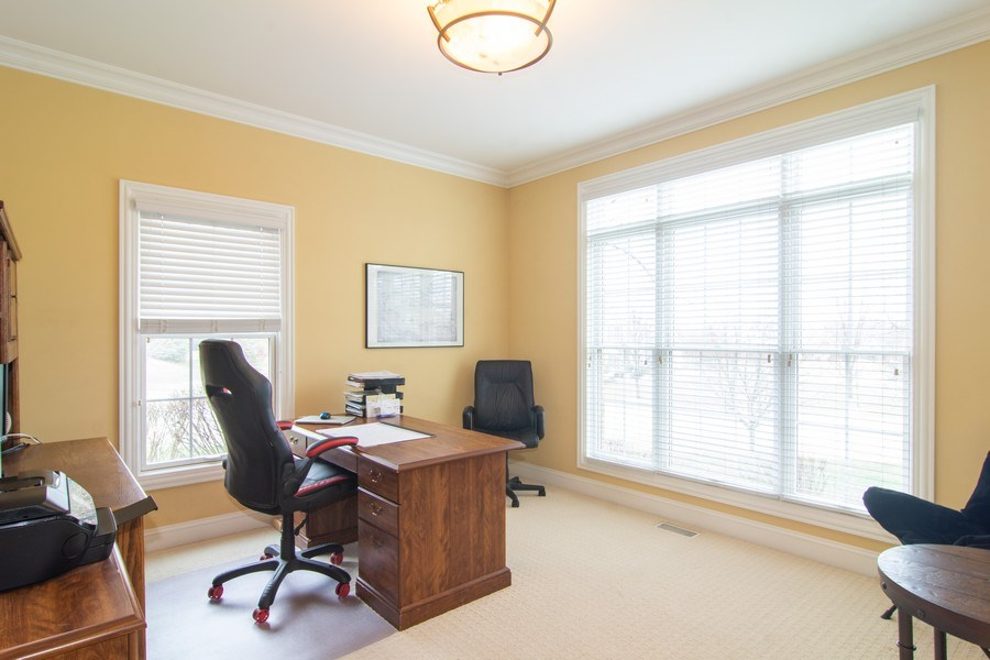 Real Estate Photography - 24815 Wildberry Bend, Cary, IL, 60013 - 1st Floor Den/Office