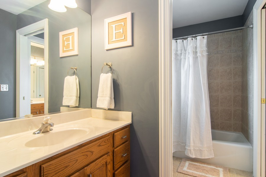 Real Estate Photography - 24815 Wildberry Bend, Cary, IL, 60013 - Jack and Jill Bath
