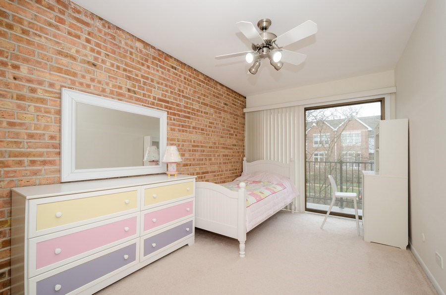 Real Estate Photography - 1100 Pine St. Unit D, Glenview, IL, 60025 - 3rd Bedroom