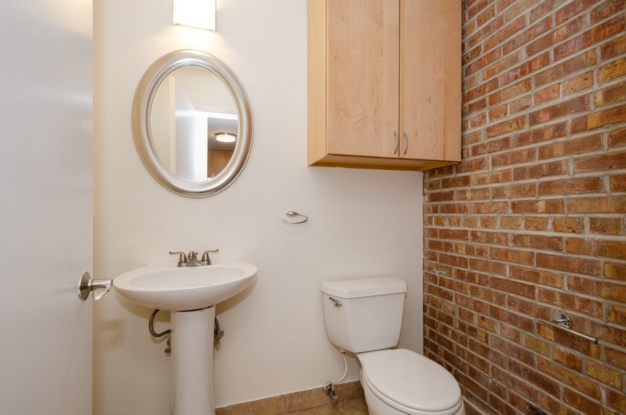 Real Estate Photography - 1100 Pine St. Unit D, Glenview, IL, 60025 - Powder Room