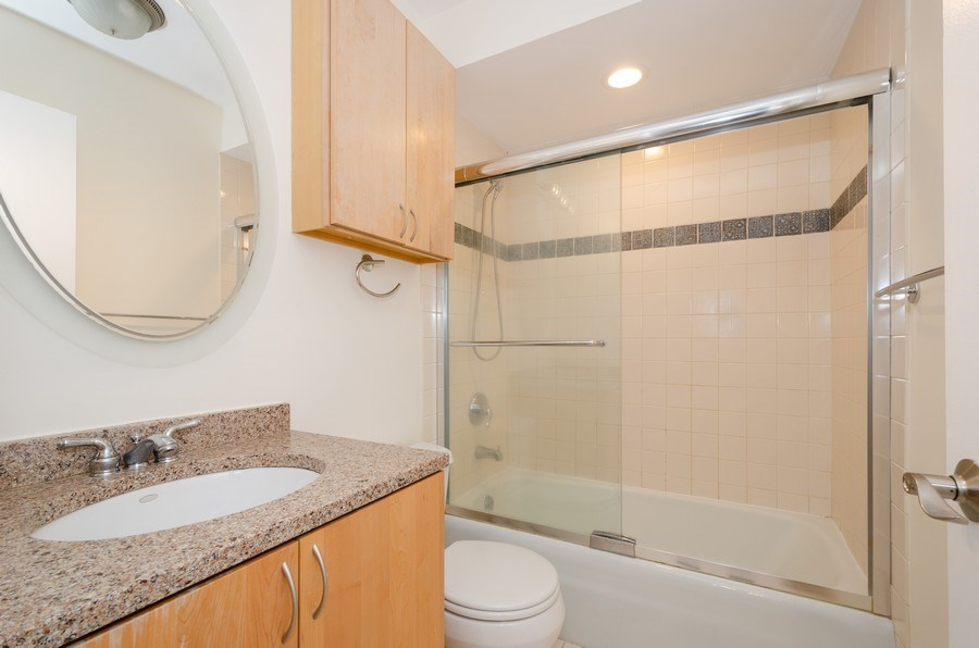 Real Estate Photography - 1100 Pine St. Unit D, Glenview, IL, 60025 - 2nd Bathroom