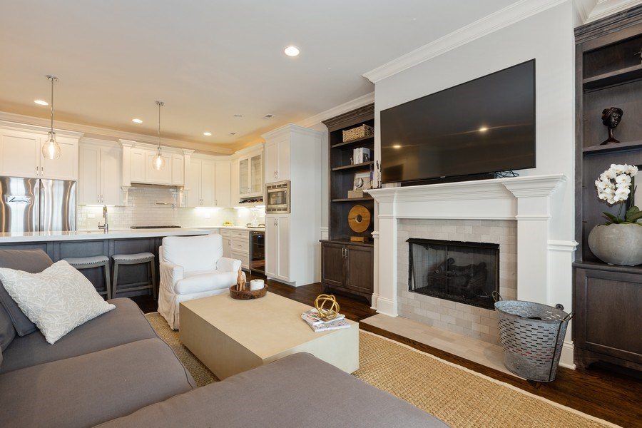 Real Estate Photography - 3410 N Halsted, Chicago, IL, 60657 - Living Room