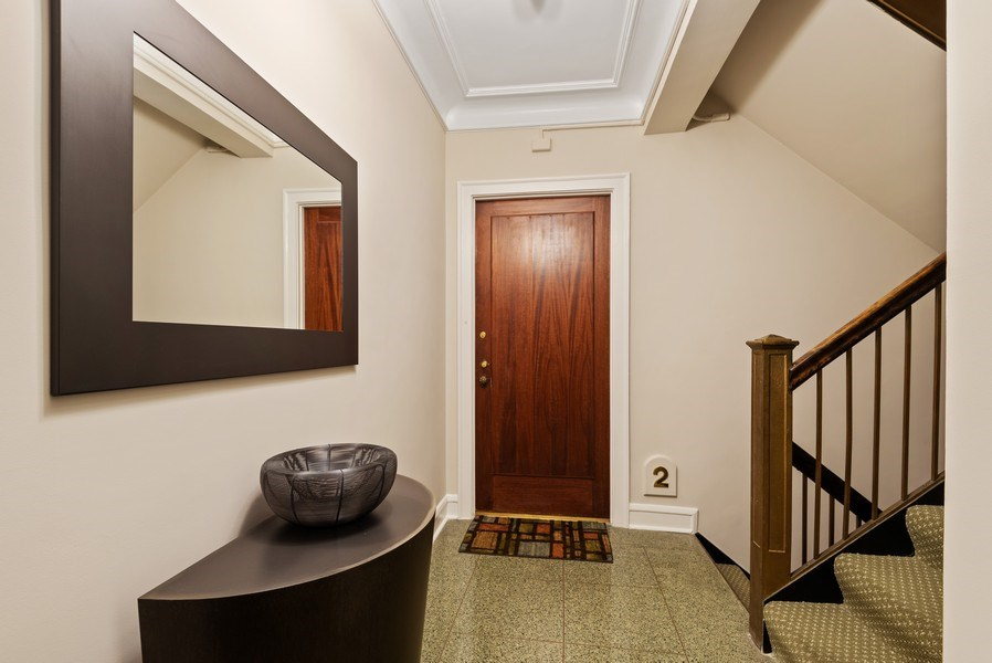 Real Estate Photography - 1426 Chicago Avenue, 2-South, Evanston, IL, 60201 - Elevator & Stairway Foyer