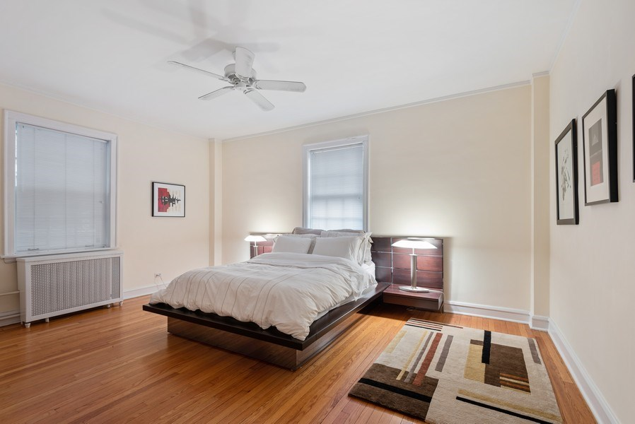 Real Estate Photography - 1426 Chicago Avenue, 2-South, Evanston, IL, 60201 - Master Bedroom