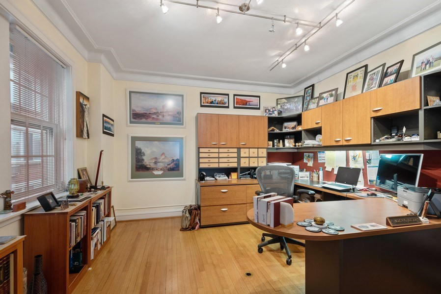 Real Estate Photography - 1426 Chicago Avenue, 2-South, Evanston, IL, 60201 - Dining Room, Currently Used as Office