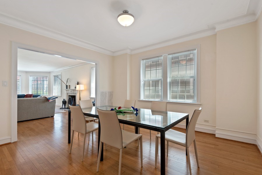 Real Estate Photography - 1426 Chicago Avenue, 2-South, Evanston, IL, 60201 - Dining Room