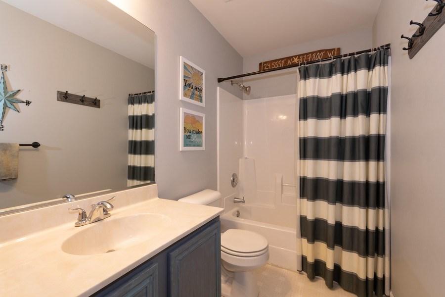 Real Estate Photography - 2909 Savannah, Aurora, IL, 60502 - 2nd Bathroom