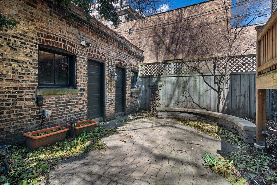 Real Estate Photography - 2736 N Seminary, F, Chicago, IL, 60614 - Private Backyard