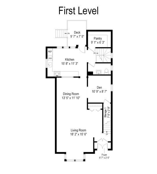 Real Estate Photography - 2736 N Seminary, F, Chicago, IL, 60614 - Floor Plan