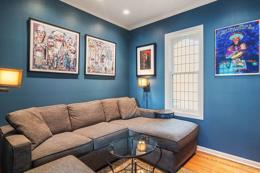 Real Estate Photography - 2736 N Seminary, F, Chicago, IL, 60614 - Den