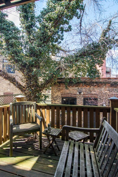 Real Estate Photography - 2736 N Seminary, F, Chicago, IL, 60614 - Deck