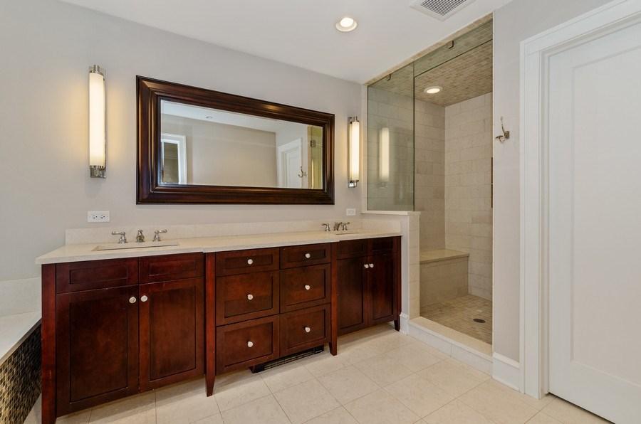 Real Estate Photography - 1360 Ridge Rd, Highland Park, IL, 60035 - Master Bathroom