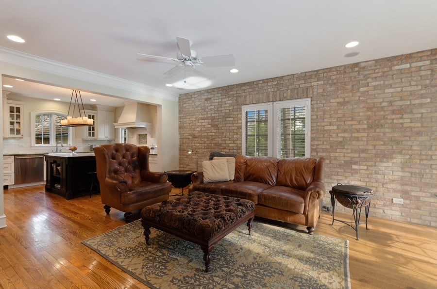 Real Estate Photography - 1360 Ridge Rd, Highland Park, IL, 60035 - Family Room