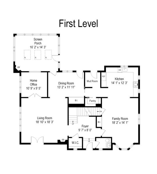 Real Estate Photography - 1360 Ridge Rd, Highland Park, IL, 60035 - Floor Plan