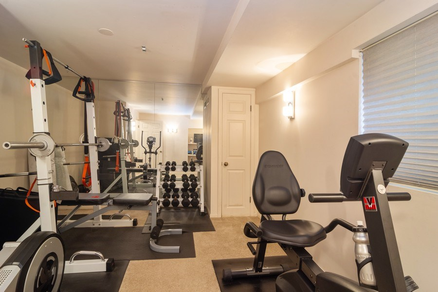 Real Estate Photography - 1913 N Brighton Pl, Arlington Heights, IL, 60004 - Basement Bedroom / Exercise Room