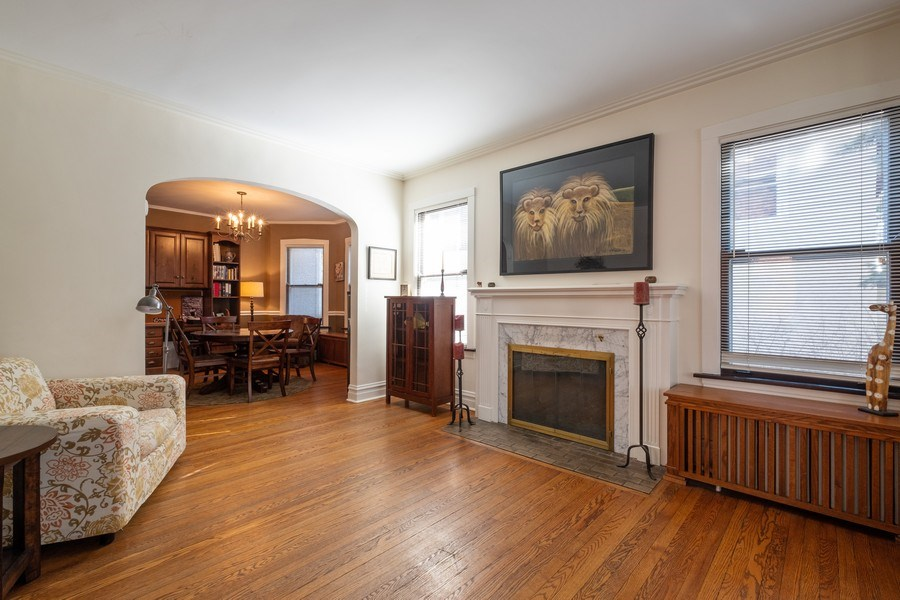 Real Estate Photography - 833 Lincoln St, Evanston, IL, 60201 - Living Room