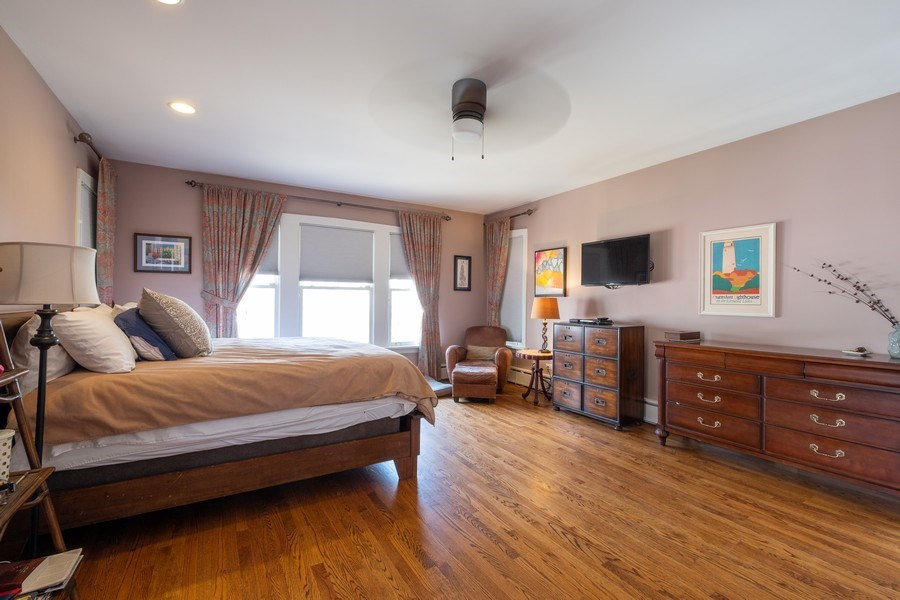 Real Estate Photography - 833 Lincoln St, Evanston, IL, 60201 - Master Bedroom