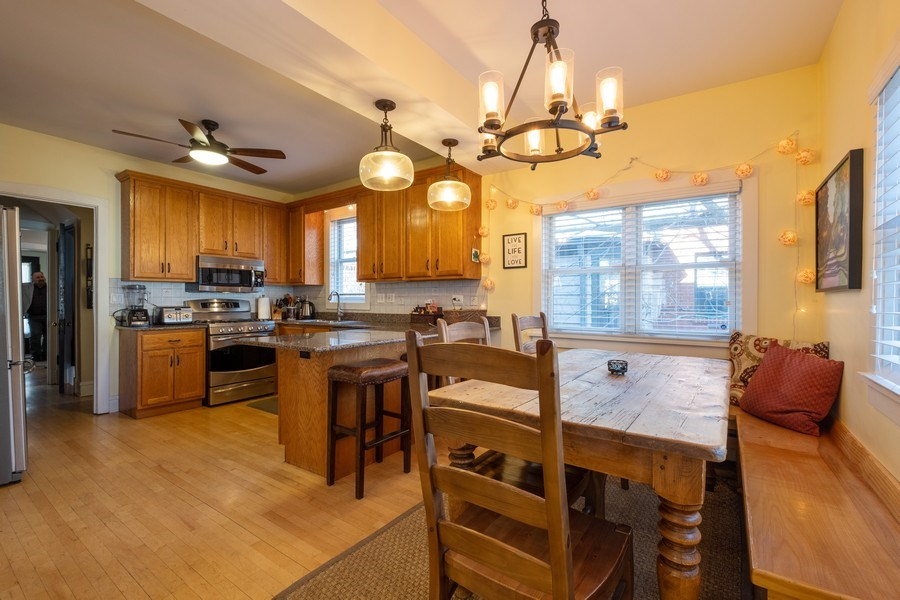 Real Estate Photography - 833 Lincoln St, Evanston, IL, 60201 - Kitchen / Breakfast Room