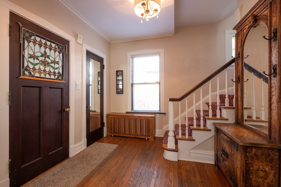 Real Estate Photography - 833 Lincoln St, Evanston, IL, 60201 - Foyer