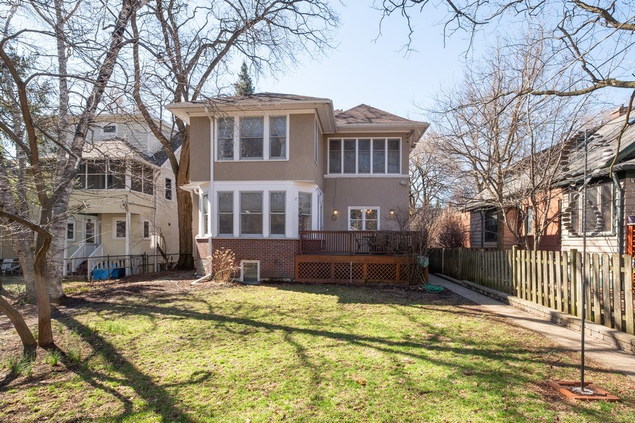 Real Estate Photography - 833 Lincoln St, Evanston, IL, 60201 - Rear View