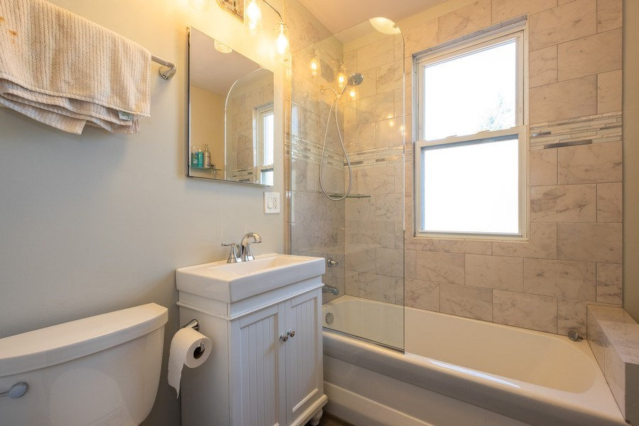 Real Estate Photography - 833 Lincoln St, Evanston, IL, 60201 - 2nd Bathroom