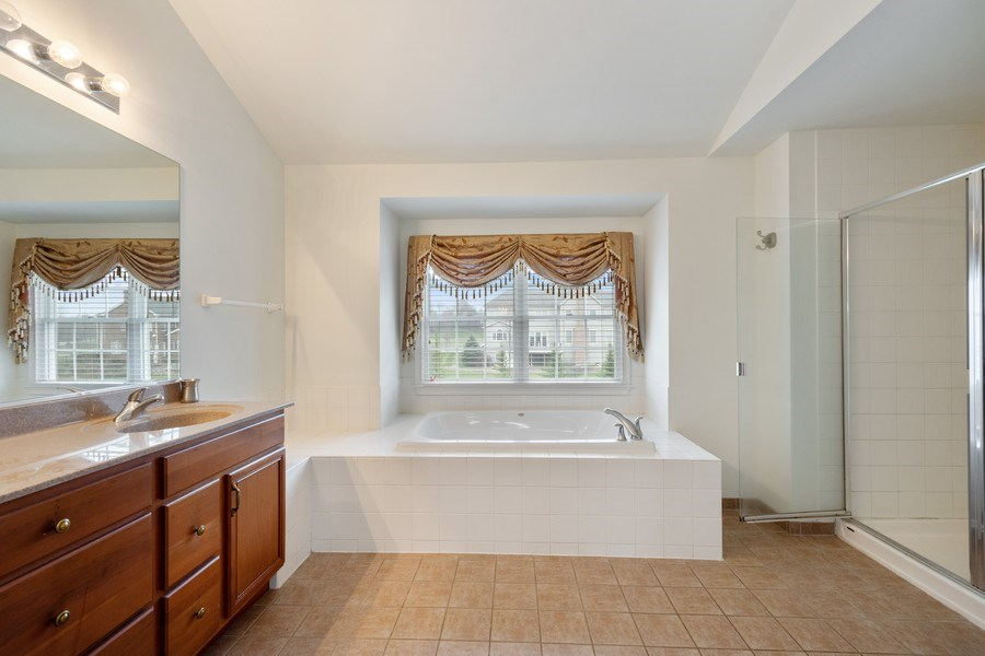 Real Estate Photography - 35 Olympic Drive, South Barrington, IL, 60010 - Master Bathroom