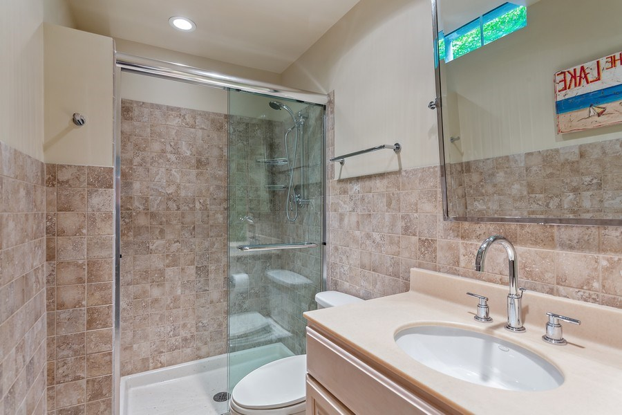 Real Estate Photography - 3002 Lakeshore Dr, Long Beach, IN, 46360 - 4th Bathroom