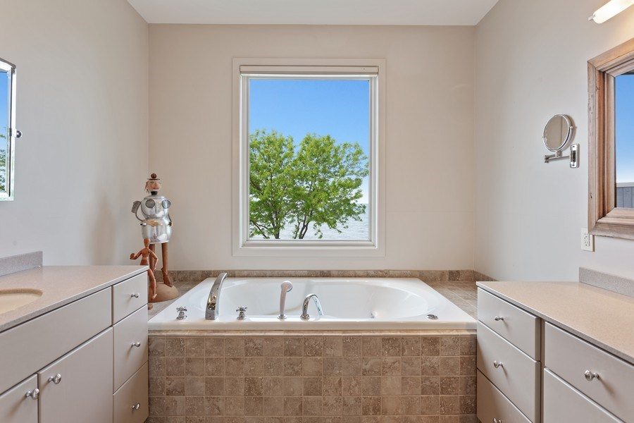 Real Estate Photography - 3002 Lakeshore Dr, Long Beach, IN, 46360 - Master Bathroom