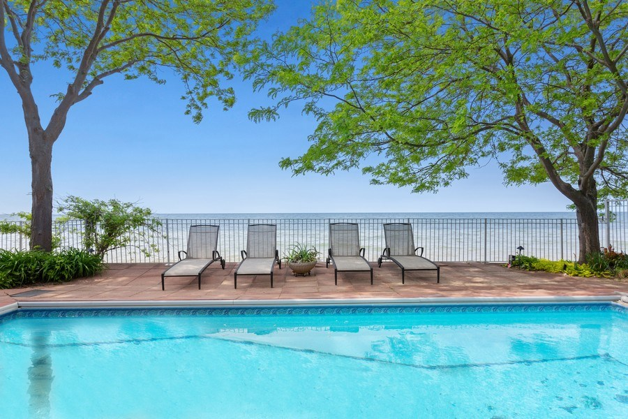 Real Estate Photography - 3002 Lakeshore Dr, Long Beach, IN, 46360 - Pool