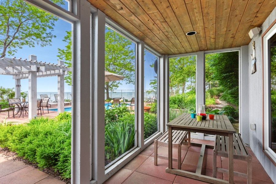 Real Estate Photography - 3002 Lakeshore Dr, Long Beach, IN, 46360 - Porch