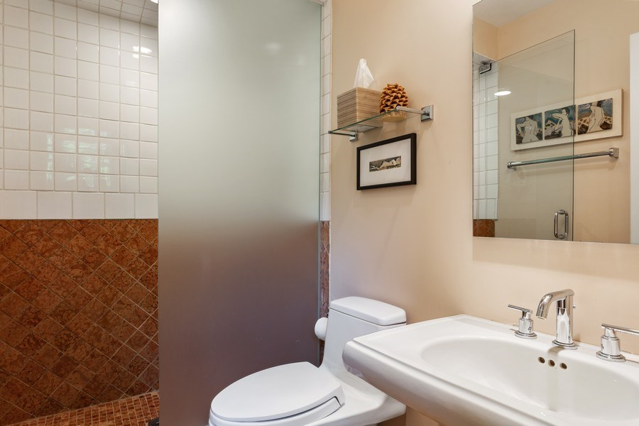 Real Estate Photography - 3002 Lakeshore Dr, Long Beach, IN, 46360 - Bathroom