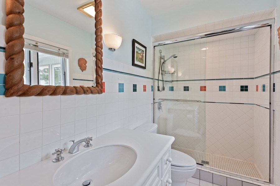 Real Estate Photography - 3002 Lakeshore Dr, Long Beach, IN, 46360 - 2nd Bathroom
