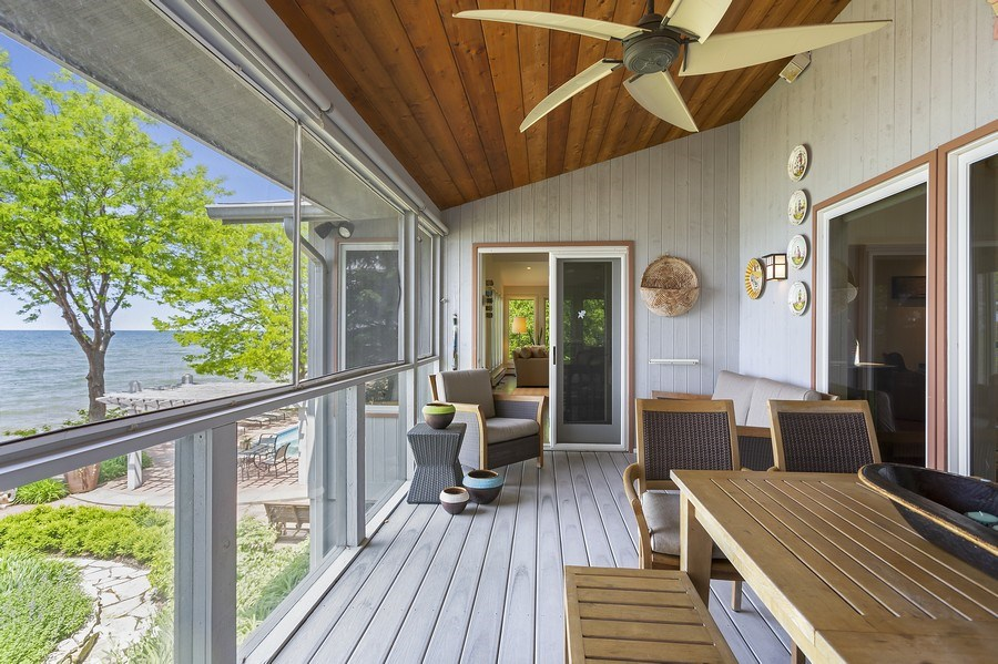 Real Estate Photography - 3002 Lakeshore Dr, Long Beach, IN, 46360 - Sun Room