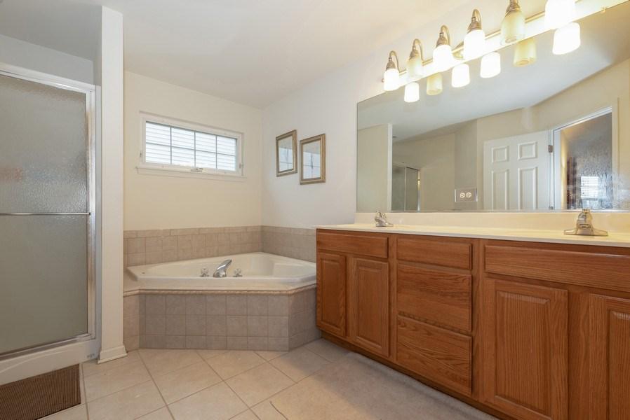 Real Estate Photography - 165 Hearthstone Drive, Bartlett, IL, 60103 - Master Bathroom